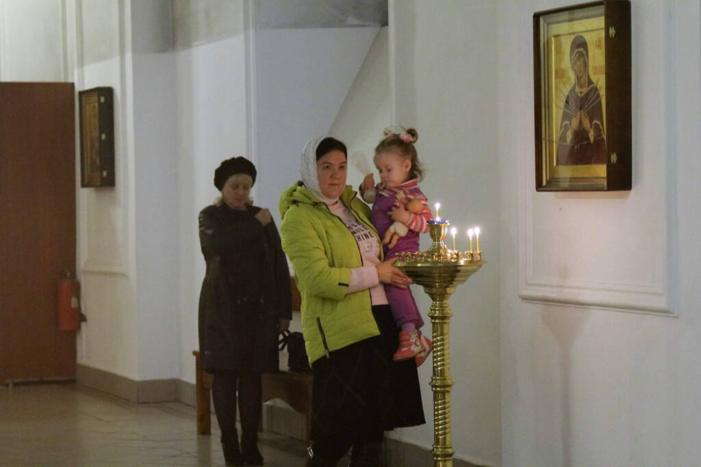Всенощное бдение в канун Недели 19-й по Пятидесятнице в Вознесенском кафедральном соборе г. Касимова