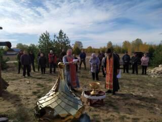 01.10.2019_Освящение креста и купола в Ласинском