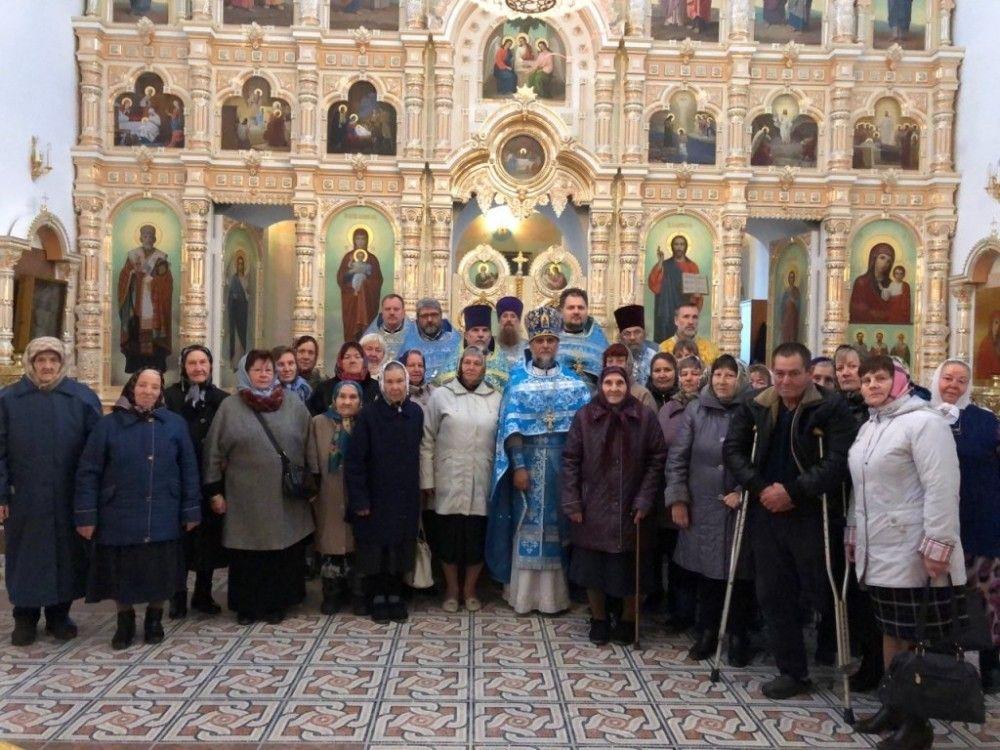 Соборное служение в Казанском храме с. Юшта