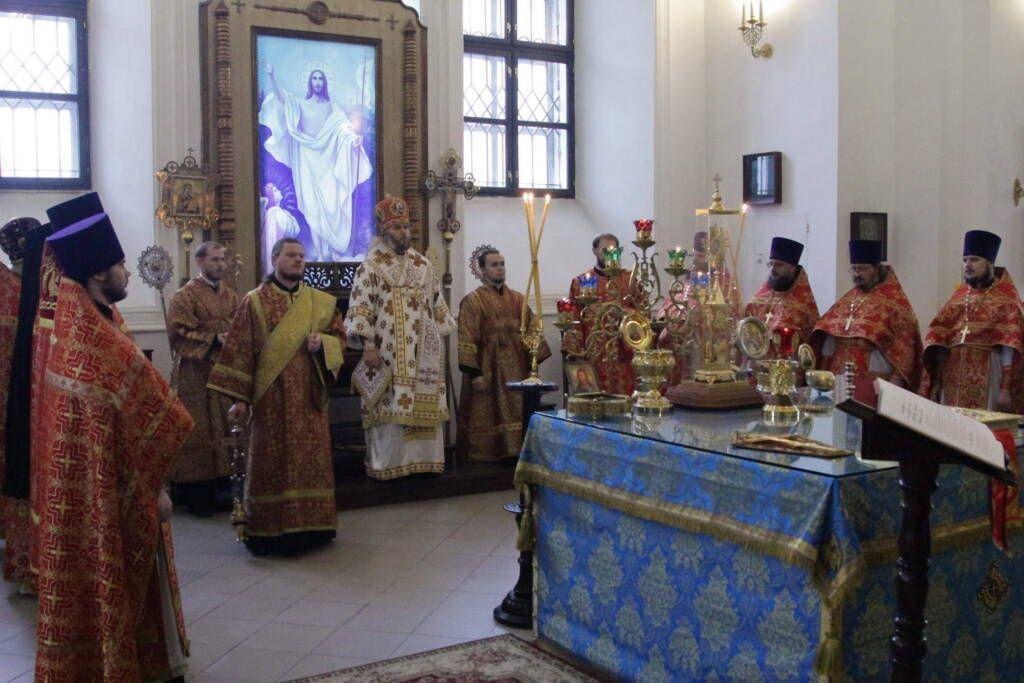 День памяти священномученика Матфия Касимовского в Вознесенском кафедральном соборе г. Касимова.