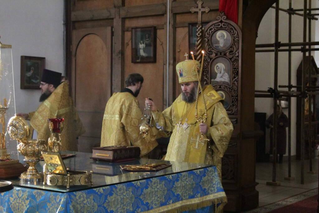 Богослужение в Неделю 20-ю по Пятидесятнице в Вознесенском кафедральном соборе г. Касимова