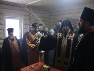 5.12.19_Архипастырь совершил освящение часовни в селе Нарма Ермишинского района.