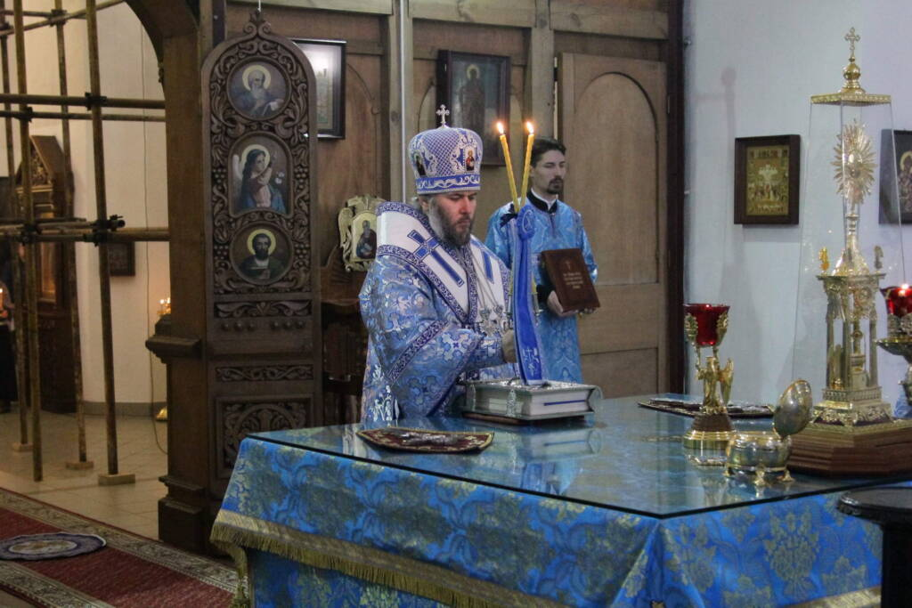 Божественная литургия на праздник Введение во храм Пресвятой Богородицы в Вознесенском кафедральном соборе г. Касимова.