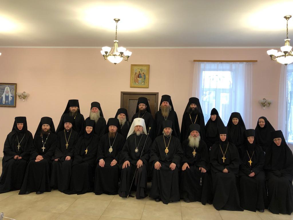 Преосвященный епископ Василий принял участие в собрании игуменов и игумений монастырей митрополии