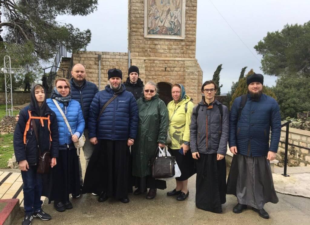 Преосвященный епископ Василий с группой паломников из Рязанской митрополии пребывает на Святой Земле