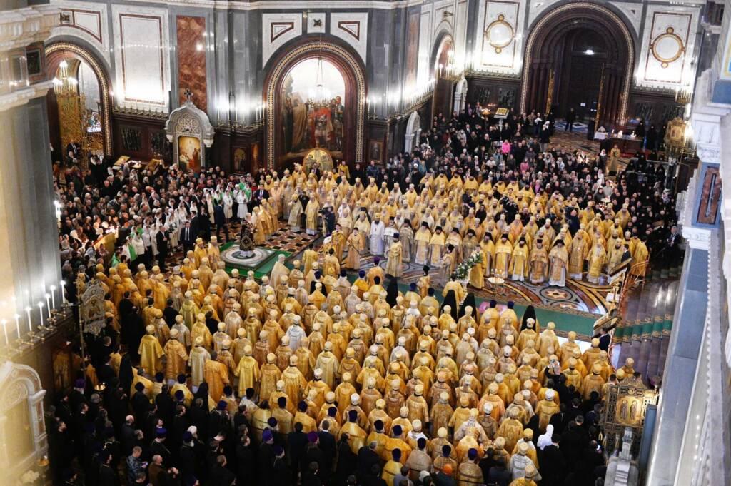 Преосвященный епископ Василий принял участие в торжественном богослужении по случаю одиннадцатой годовщины интронизации Святейшего Патриарха Кирилла