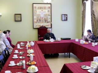15.02.20_Преосвященный епископ Василий провел беседу женами Касимовских священнослужителей