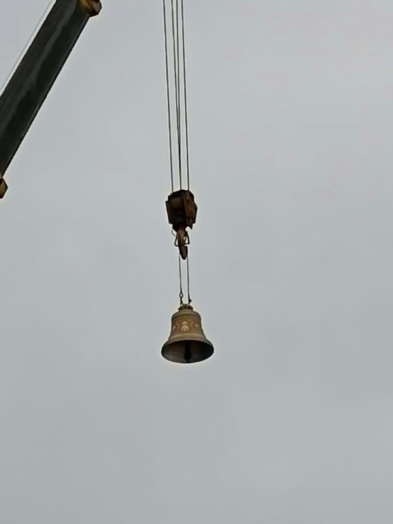 Освящение колоколов храма в честь иконы Феодоровской Божией Матери в села Криуша