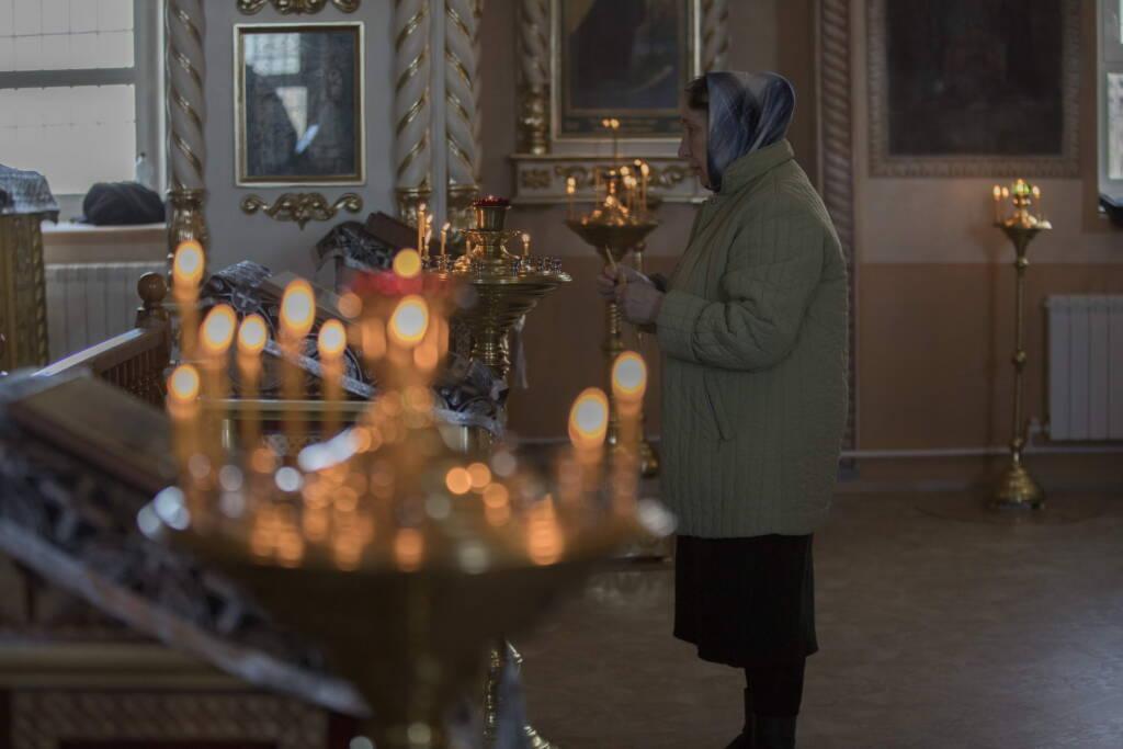 Архипастырский визит в Сасовское благочиние. Литургия Преждеосвященных Даров в Христорождественском храме села Саблино Сасовского района