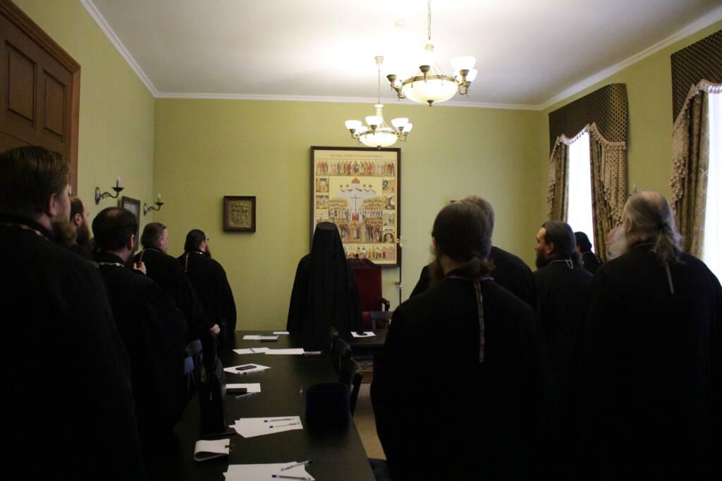 Правящий архиерей возглавил собрание благочинных Касимовской епархии