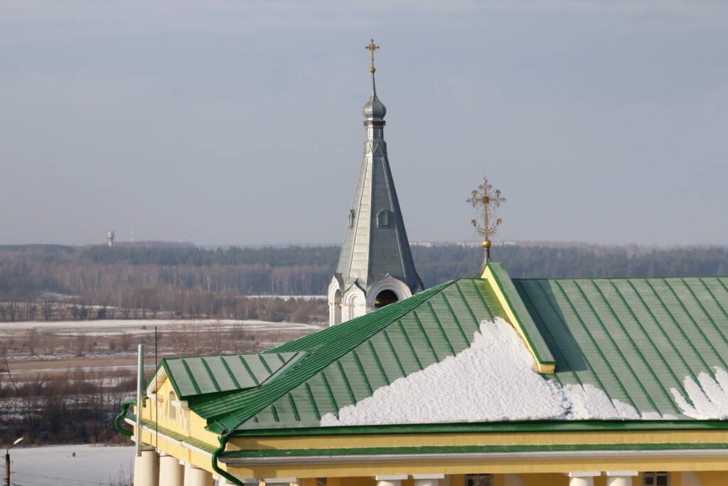 Божественная литургия в Неделю сыропустную в Вознесенском кафедральном соборе г. Касимова