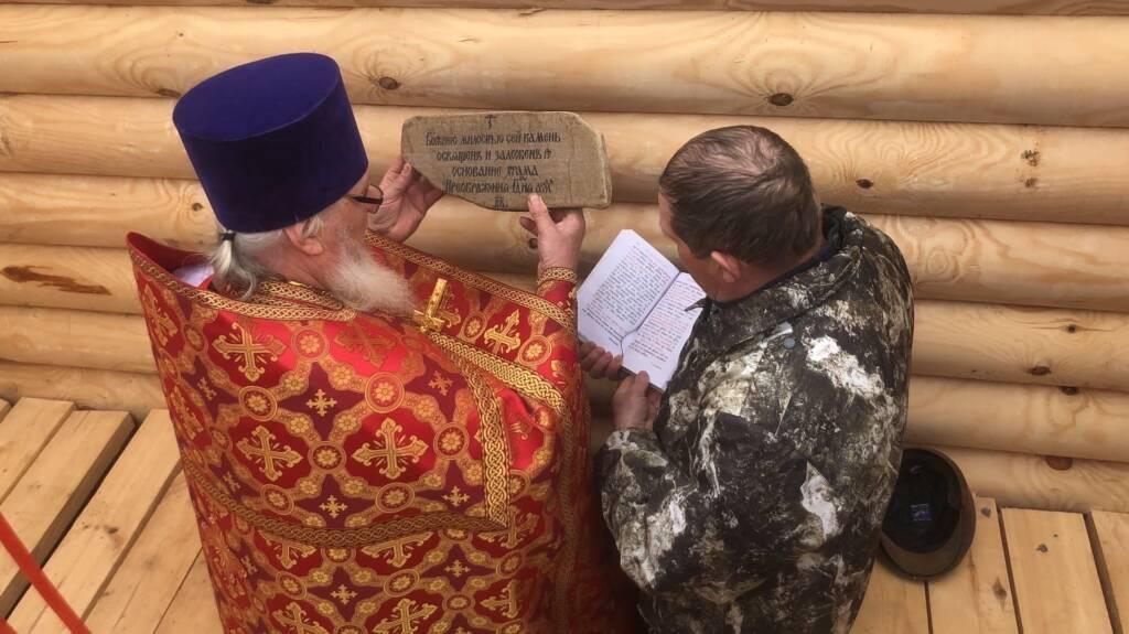 В селе Кольдюки Касимовского района освящен закладной камень для храма в честь Преображения Господня
