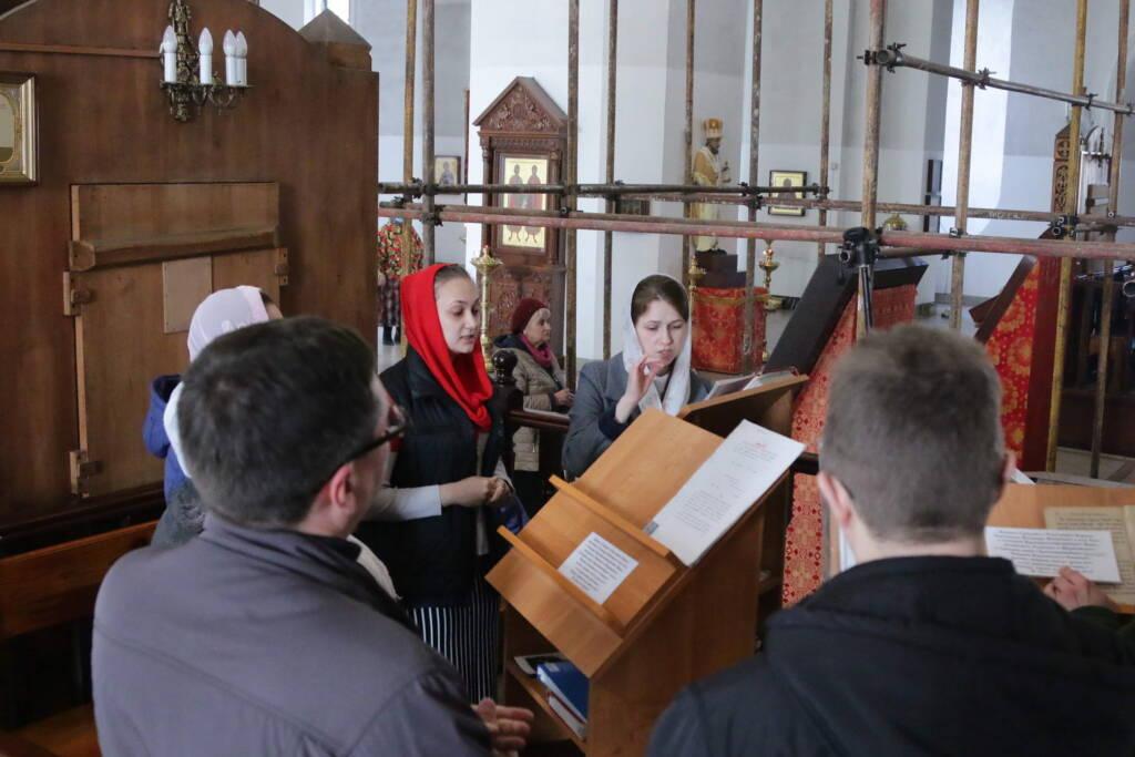 Соборное богослужение в день памяти Собора Касимовских святых Вознесенском кафедральном соборе г. Касимова