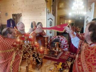 24.04.20_Божественная литургия в пятницу Светлой Седмицы в Никольском храме города Спас-Клепики