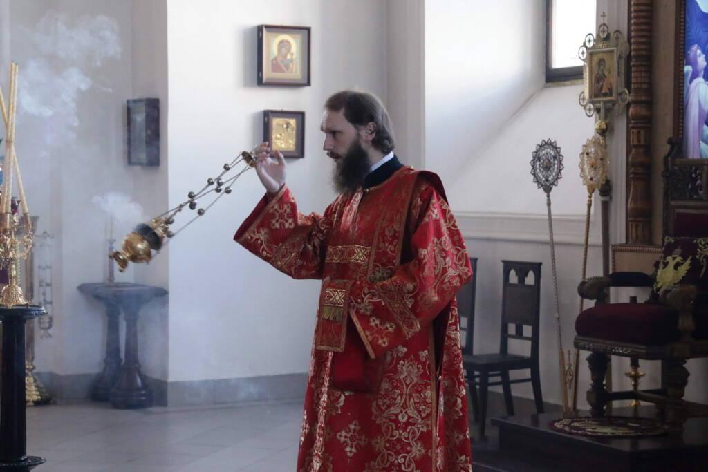 Всенощное бдение в канун Недели 3-й по Пасхе, святых жен-мироносиц в Вознесенском кафедральном соборе