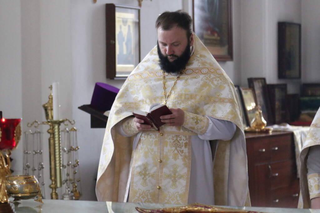Божественная литургия в Неделю 7-ю по Пасхе, святых отцев I Вселенского Собора в Вознесенском кафедральном соборе города Касимова