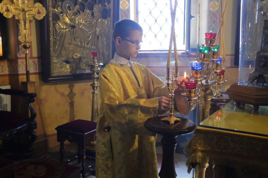 Божественная литургия в Неделю 1-ю по Пятидесятнице, Всех святых в Никольском храме города Касимова