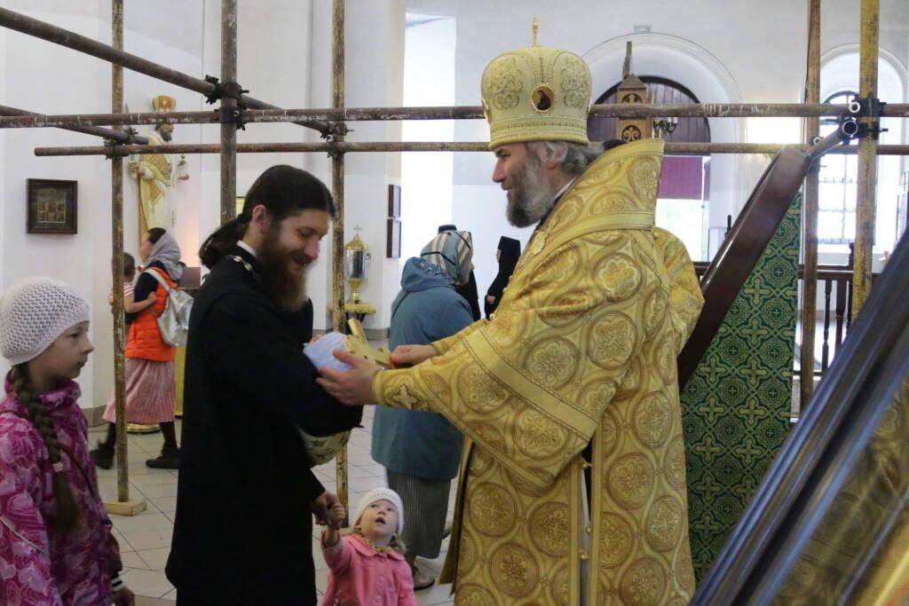 День памяти святителя Василия, епископа Рязанского в Вознесенском кафедральном соборе города Касимова