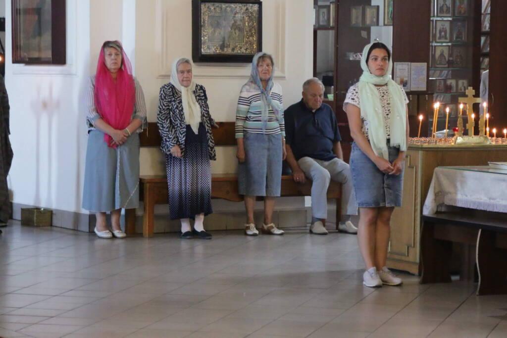Всенощное бдение в канун Недели 9-й по Пятидесятнице в Вознесенском кафедральном соборе города Касимова