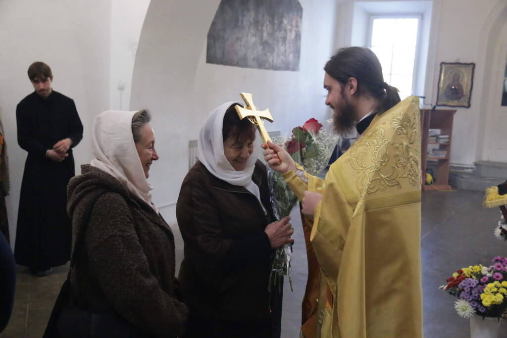 Соборное богослужение в день памяти преподобного Макария Жабынского в Благовещенском храме города Касимова