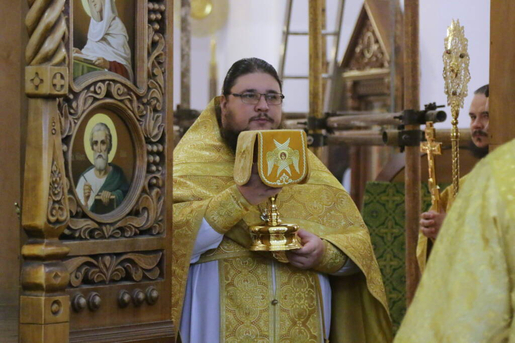 Божественная литургия в Неделю 19-ю по Пятидесятнице в Вознесенском кафедральном соборе города Касимова