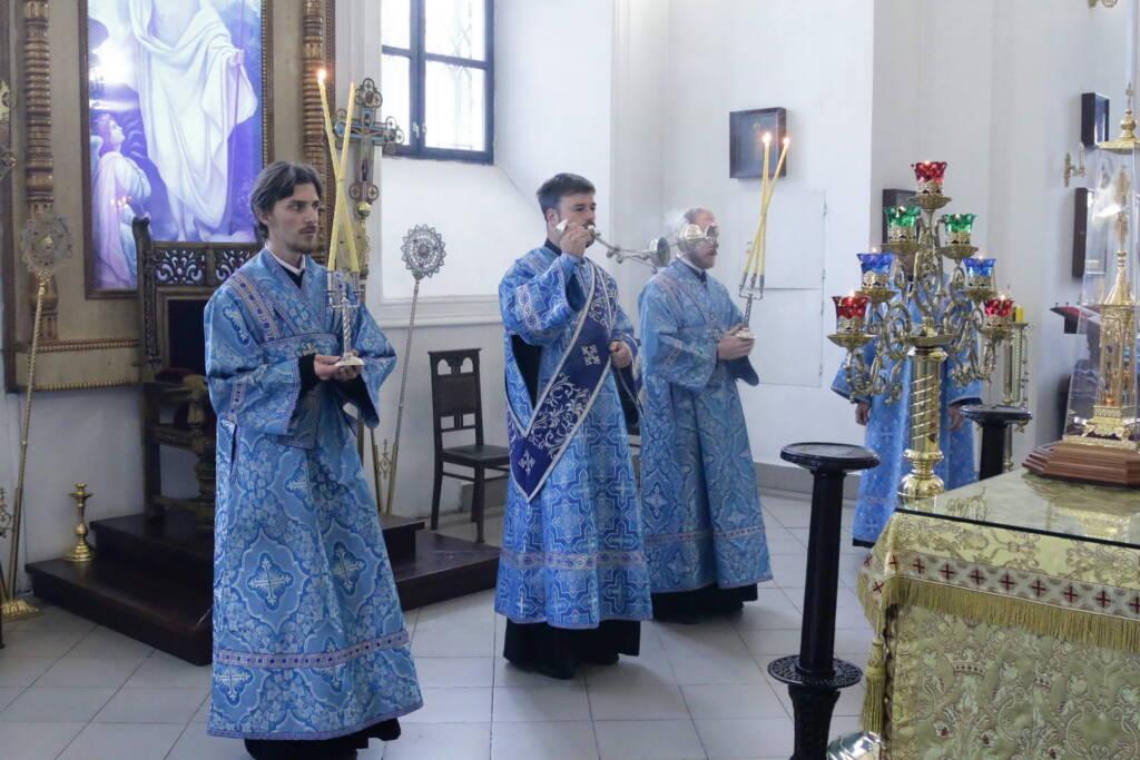 Божественная литургия в день памяти Иверской иконы Божией Матери в Вознесенском кафедральном соборе города Касимова