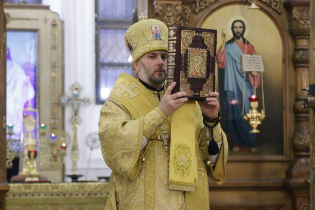 Всенощное бдение в канун Недели 21-й по Пятидесятнице в Вознесенском кафедральном соборе города Касимова