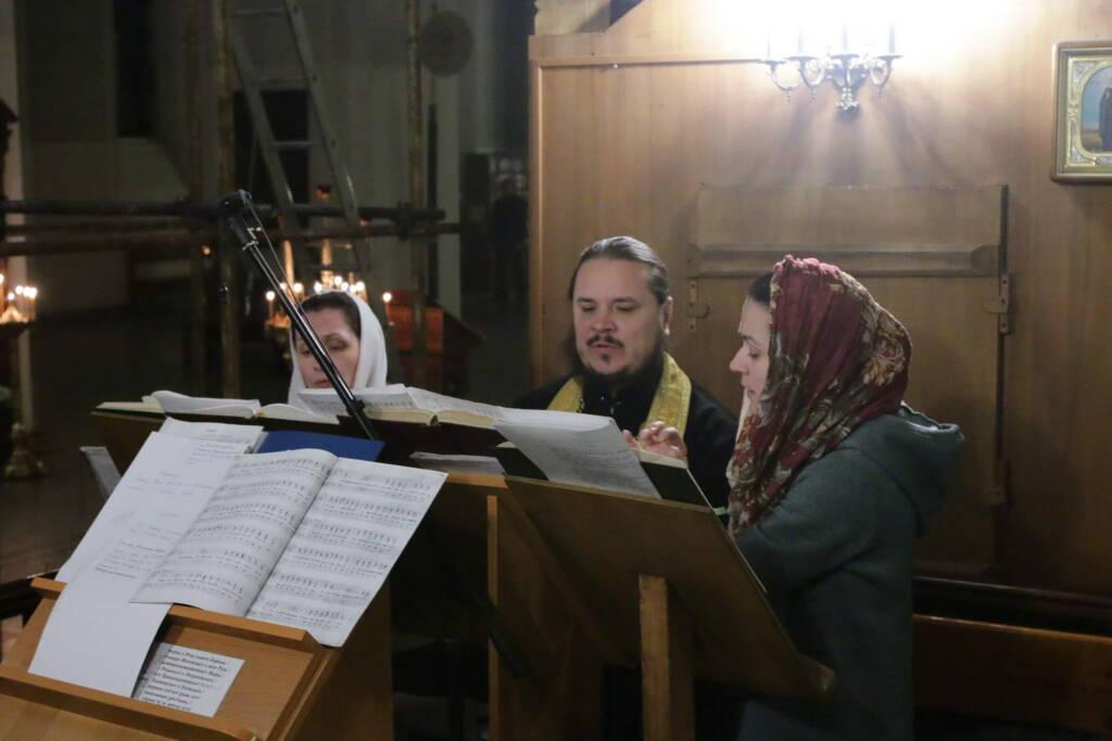 Всенощное бдение в канун Недели 24-й по Пятидесятнице в Вознесенском кафедральном соборе города Касимова