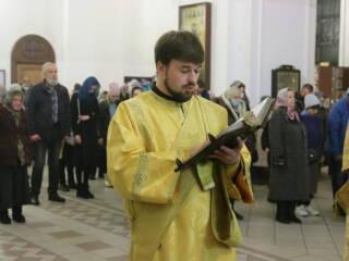 Молебен на новолетие в Вознесенском кафедральном соборе города Касимова