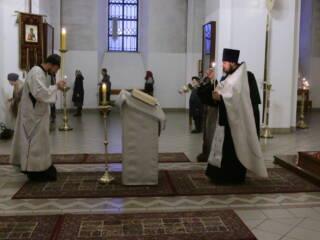 Божественная Литургия в Навечерие Рождества Христова в Вознесенском кафедральном соборе города Касимова
