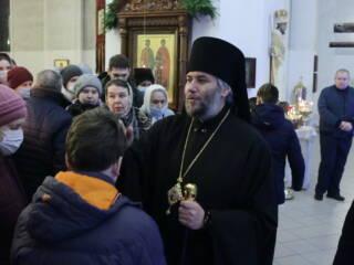 Великая Рождественская вечерня в Вознесенском кафедральном соборе