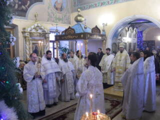 Божественная Литургия на Собор Пресвятой Богородицы в Казанском соборе города Сасово