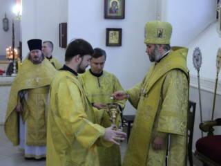 Божественная Литургия в Неделю 32-ю по Пятидесятнице, перед Богоявлением в Вознесенском Кафедральном соборе города Касимова