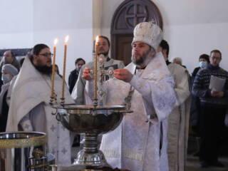 Божественная Литургия в Навечерие Богоявления в Вознесенском Кафедральном соборе города Касимова