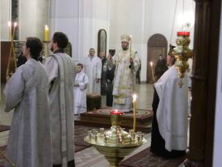 Всенощное бдение в канун праздника Богоявления Господня в Вознесенском кафедральном соборе