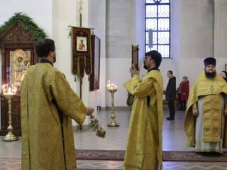 Божественная Литургия в Неделю 33-ю по Пятидесятнице, по Богоявлении в Вознесенском Кафедральном соборе города Касимова