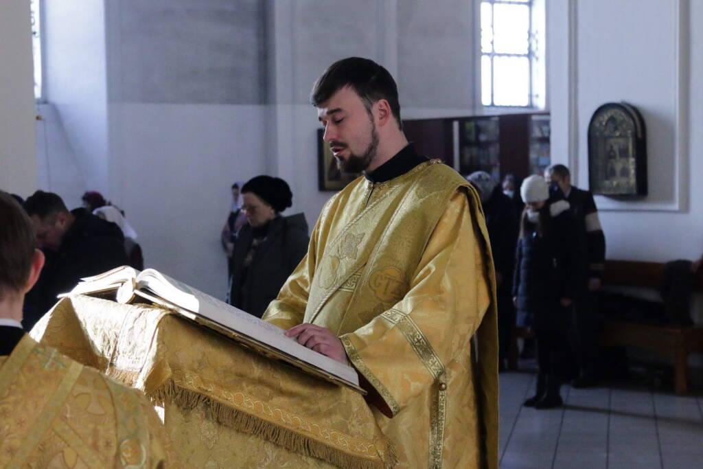 Божественная Литургия в Неделю 35-ю по Пятидесятнице в Вознесенском кафедральном соборе города Касимова