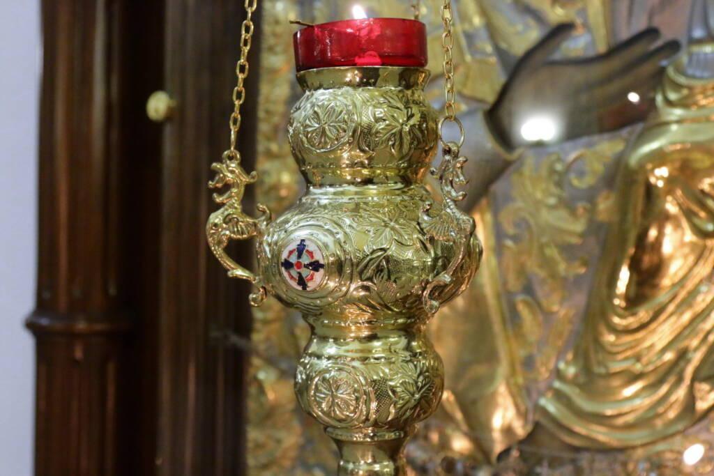 Всенощное бдение в канун празднования Сретения Господня в Вознесенском кафедральном соборе города Касимова