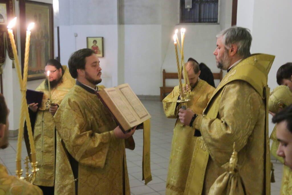 Всенощное бдение в канун Недели 37-й по Пятидесятнице в Вознесенском кафедральном соборе города Касимова