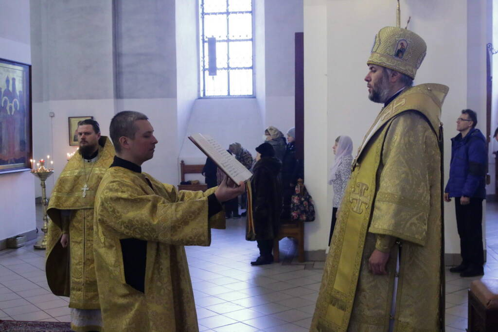 Божественная Литургия в Неделю о блудном сыне в Вознесенском Кафедральном соборе города Касимова