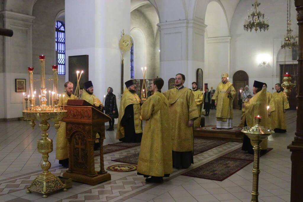 Всенощное бдение в канун Недели мясопустной, о Страшном Суде в Вознесенском Кафедральном соборе города Касимова