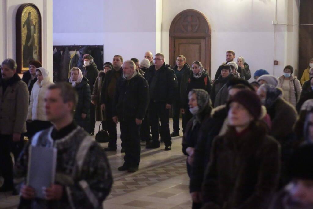 Чин прощения в Вознесенском Кафедральном соборе города Касимова