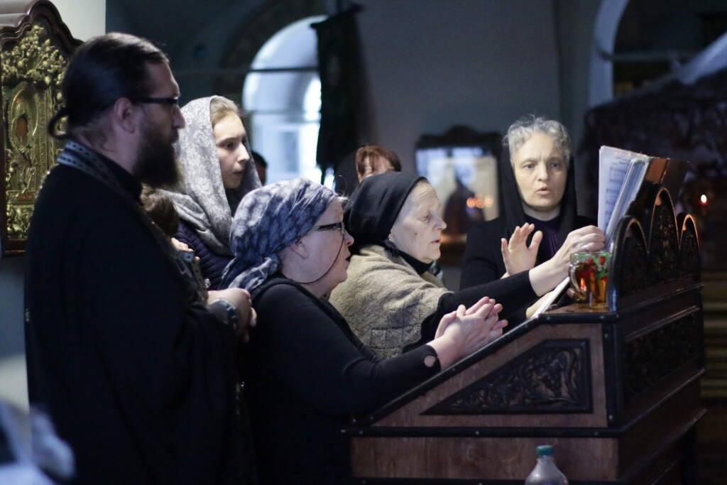 Великое повечерие с чтением Великого канона преподобного Андрея Критского в среду первой седмицы Великого поста