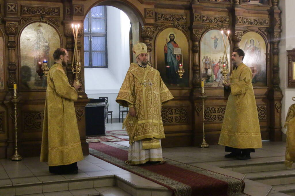 Всенощное бдение в канун Недели 1-й Великого поста, Торжества Православия в Вознесенском Кафедральном соборе города Касимова