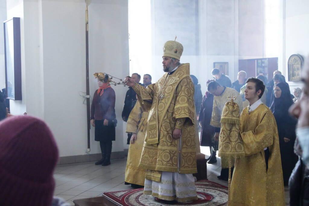 Божественная литургия и чин Торжества Православия в Неделю 1-ю Великого поста в Вознесенском кафедральном соборе города Касимова