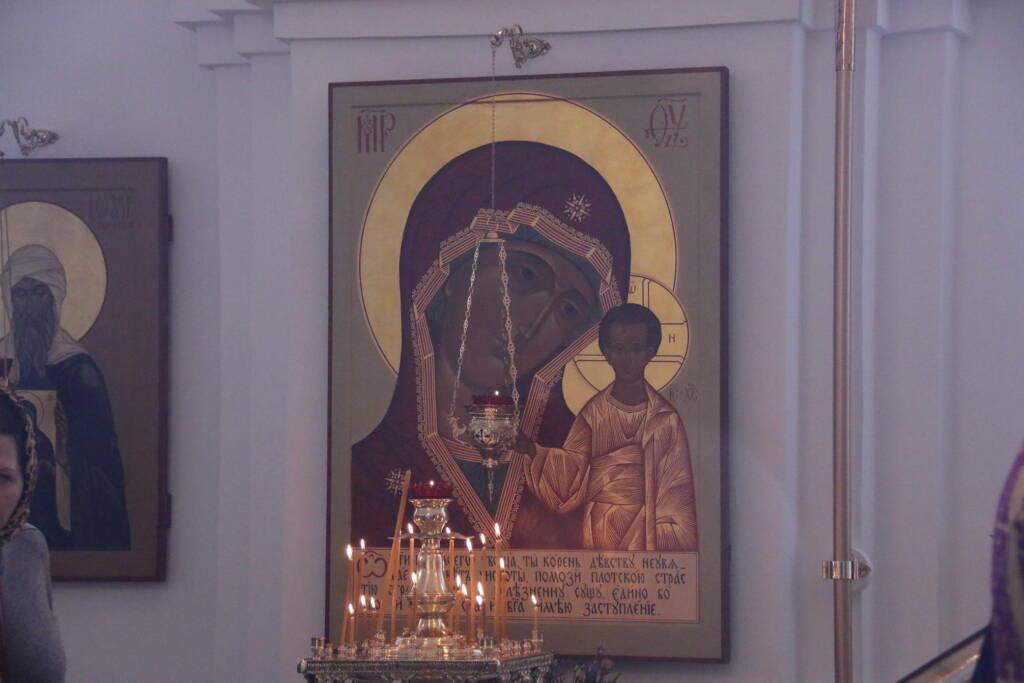 Малое освящение и Божественная Литургия в Неделю  3-ю Великого поста, Крестопоклонную в храме Преображения Господня  п. Кадом