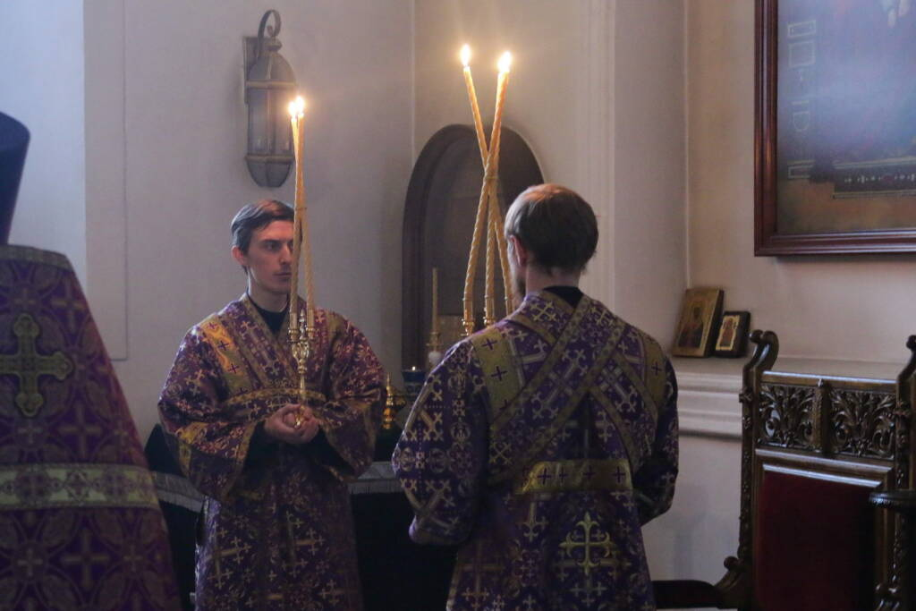 Всенощное бдение в канун Недели 5-й Великого поста, преподобной Марии Египетской в Вознесенском Кафедральном соборе города Касимова