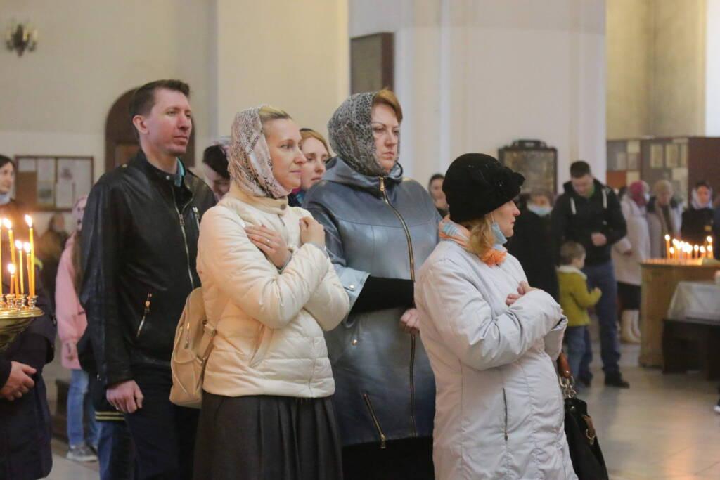 Божественная Литургия в Неделю 5-ю Великого поста в Вознесенском Кафедральном соборе города Касимова