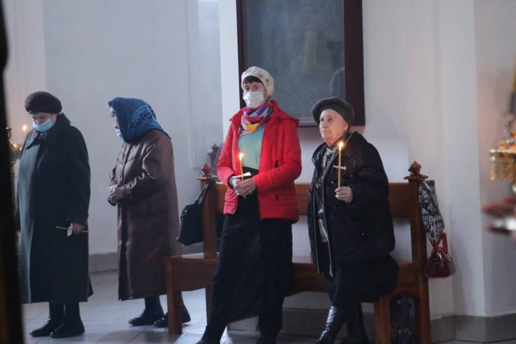 Чтение двенадцати Страстных Евангелий в Вознесенском Кафедральном соборе города Касимова