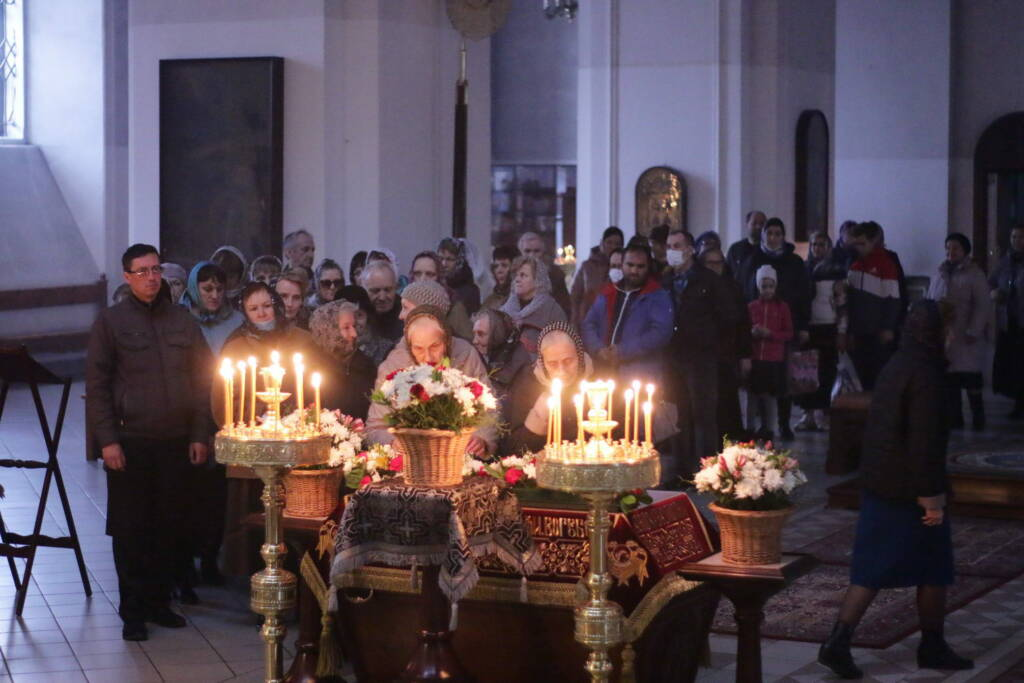 Богослужение в Великую Пятницу в Вознесенском Кафедральном соборе города Касимова